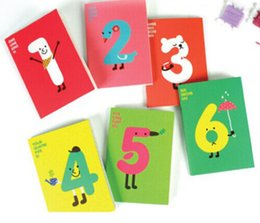 Wholesale 2016 High quality Korea stationery Cute cartoon lucky digital notebook diary book daily planner millenum notepad small book
