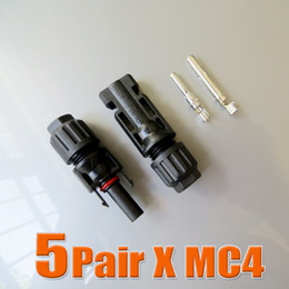 Connecteur mc4 panneau solaire en Ligne-Gros-5pairs x mâle MC4 Connecteur et femelle, connecteur MC4 Panneau solaire utilisé pour câble solaire 2.5mm2 4mm2 6mm2