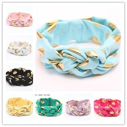 Mix color Baby Hair Accessories Scrunchy Baby Girl Headbands Cute Dot Baby Turban Headband Baby Haarband BA479