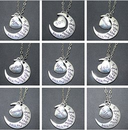 I Love You To The Moon And Back Charms Statement Collar Choker Necklace &Pendants Vintage Silver Jewelry Best Friend Friendship For Women