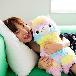 Wholesale quot cm Rainbow Alpaca Plush Sheep Toy Japanese Soft Plush Alpacasso Baby Plush Stuffed Animals Alpaca Gifts hot sale