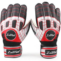 Wholesale Cool goalie gloves all size Ventilate latex soccer ball Wrist band goal keeper Quality football finger guard
