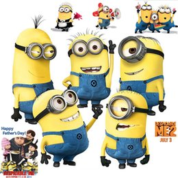 Wholesale Can be removed from the green wall stickers yellow people Male girl background metope of children room decorate cartoon stickers