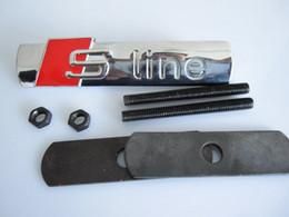 1set S LINE Sline Métal 3D voiture capot avant Grill Badge Emblem Grille Logo autocollant pour A1 A3 A4 A5 A6 A7 A8 Q3 Q5 Q7 à partir de lignes de capot fabricateur