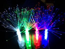 Wholesale Yiwu manufacturers led light emitting finger stall bulk peacock ring finger lights fiber optic finger light