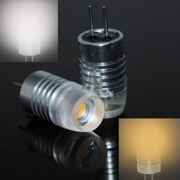 10pcs / lot Led G4 Lampes DC 12V 1.5W Crystal conduit ampoule Droplight Chandelier COB spot voiture lumière froide / W4 blanc g4 conduit de livraison gratuite à partir de g4 blanc bulbe fabricateur