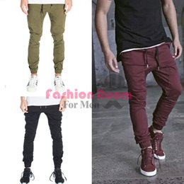 Wholesale-mens joggers casual cargo pants fashion men Jogger Pants for men hip hop army sports pants green ,black wine red trousers