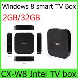 Wholesale Wintel W8 Win8 mini PC Intel Atom Z3735F CPU smart computer GB DDR3 GB ROM CX W8 Intel TV box Dual OS windows Android pc
