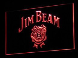 a049 Jim Beer Bar Beer LED Neon Light Sign Wholeseller Dropship Free Shipping 7 colors to choose