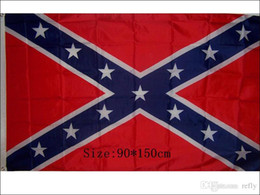 Wholesale 90cm cm two Printed Flag Confederate Rebel Civil War Flag Confederate Battle Flags Confederate Flag by the USA