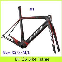 Wholesale BH G6 Carbon Frame Color For Choice Black Red Green Gray Decals Glossy Matt Finish Road Cycling Bike Frameset Fitting BSA BB30 Riding Gear