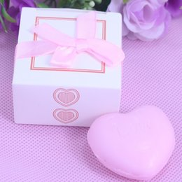 Wholesale 20PCS Bulk Boxed pink Heart Scented Soap For Girl Baby Shower Giveaway Gift Personalised Wedding Favors and Gifts For Guest