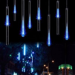 Wholesale 40pcs sets cm waterproof Meteor Shower Rain Tubes LED Lighting for Party Wedding Decoration Christmas Holiday LED Meteor Light