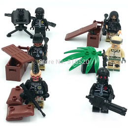 Wholesale LELE Military Serie Camouflage Barrier Gun Battle Minifigure Building Block Sets Bricks Toys Compatible With Decool