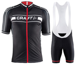 2015 Craft Cycling Jersey Bicycle Breathable Racing Bicycle Clothing Quick-Dry Lycra GEL Pad Race MTB Bike Bib shorts