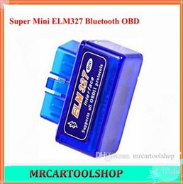 Wholesale 2015 top rated Super mini elm Bluetooth OBDii OBD2 elm327 scanner CANBUS Support All OBD2 Model