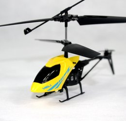 Wholesale 2 Channel Electric Mirco Brushless Helicopters Mini RC Helicopter Radio Remote Control Aircraft Helicoptero