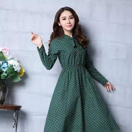 Wholesale School Sailor Outfits - In the fall and winter of 2015 the new Japanese school of restoring ancient ways long-sleeved bowknot autumn outfit print dres