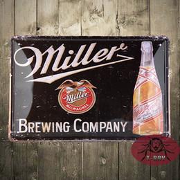 Wholesale Christmas decoration TIN SIGN Miller beer Metal Decor Wall Art Garage Shop Store Cave