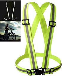 Wholesale High Visibility Neon Safety Vest Reflective Belt Vest Cycling Vest fit for Sports Outdoor