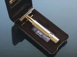 BAILI Double Edge Safety Razor Golden safety razor Alloy razor come with box 1 SET LOT NEW
