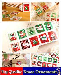 Wholesale Sheet Santa Claus Pattern Christmas Sticker Envolope Stamps Shape Stickup Packaging Self adhesive Label Gift Sealing Paster