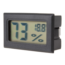 Wholesale Mini Black Digital LCD Embedded Thermometer Hygrometer Temperature Humidity Meter HHC_237