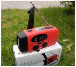 Hand crank radio with flashlight AM FM radio multifunction radio lamp radio mp4 radio mp4