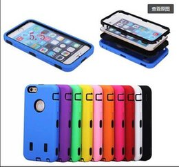 Wholesale For iphone plus in Robot Soft Silicone Hard PU Back Cover Case For iPhone inch iphone plus