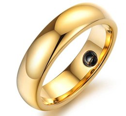 Vnox Men's tungsten rings high quality 18K Gold plated tungsten steel rings for men, Gold rose gold silver 6mm