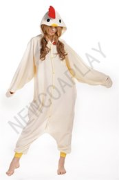 Wholesale 2016 Cosplay Cold boiled chicken Pajama No Shoes Pajamas Hooded Conjoined Sleepwear Costumes Adult Unisex Onesie Soft Sleepwear CC50