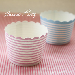 Wholesale Cake Mould Cupcake Tool Mini Muffin Baking Cups Blue and Pink Bands Cupcake Wrapper Cupcake Liners Greaseproof Paper Cases