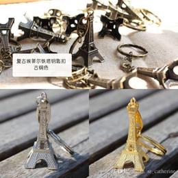 Romantic Wedding Alloy Eiffel Tower Keychain Favors Retro Eiffel Tower Keychains Advertising Eiffel Tower Key Ring Gift