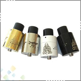 Wholesale Newest Zephyr Buddha V2 RDA Fat Buddha Zephyr V2 Rda Atomizer SS Black White Gold Tank Fit E Cigarette DHL Free