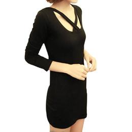 Ladies Tops 2016 New Slim Female T-shirt Long sleeve Sexy Tshirt Tee Women Shirts Long Ladies Bandage Shirt Dress Gray Black