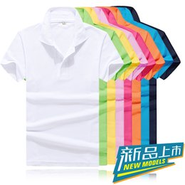 Wholesale 2015 summer style new solid polo shirt lapel short sleeve blank fashion casual menswear trend Hot Tops polo men