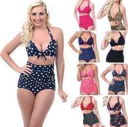 2016 Push up High Waist Swimsuit 4XL XXXL XXL Women Sexy Bathing Suit Padded Bikini set Retro Beachwear Plus Size Swimwear