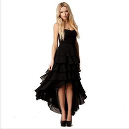 2016 Summer Sexy Casual Dresses for Womens Fashion Bra Wrapped Chiffon Asymmetrical Laminated Trim Skirt Banquet Hi-Lo Tutu Party Dresses