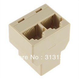 Wholesale RJ45 for CAT5 Ethernet Cable LAN Port to Socket Splitter Connector Adapter DropShipping
