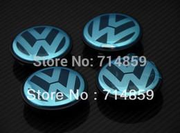 Wholesale 100pcs mm VW EMBLEM PASSAT B6 MK5 GTI R32 Wheel Center Cover Cap