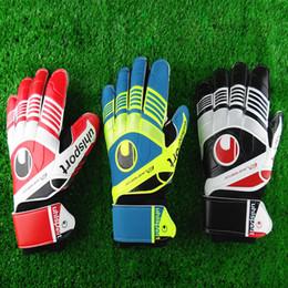 Wholesale New Professional goalkeeper gloves Finger protection latex soccer goalie protective gloves footbal sport goal keeper gloves