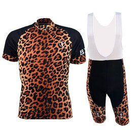 Wholesale Short Sleeve Road Bike Jerseys Cool Leopard Print Cycle Jerseys Best Cycling Brands Clothing Hot Sale BX L