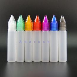 10ML Unicorn dropper bottles pen shape nipple Newest Design plastic dropper bottle colorful caps