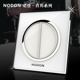Wholesale Noden acrylic glass gang way waterproof key wall light switch Top electrical push button switch Wholesaler