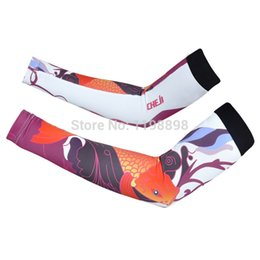 Wholesale Outdoor Sports Women Sunproof Breathable Prevent Protector Bask Perspire Riding Carp jump Bicycle Sleeve MTB Cycling Arm Warmers