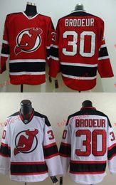Devils 30 martin brodeur Cheap Hockey Jerseys ICE Winter mens women kids Stitched Jersey Free shipping