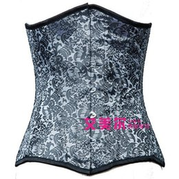 Wholesale Hot Sale sexy new Black Jacquard waist trainer steel boned waist underbust corset amr