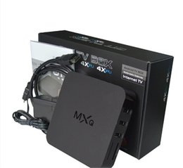 Wholesale MXQ MXG MXS TV BOX Amlogic S805 Quad Core Android Airplay TV Channels Programs Media Player