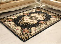 New Arrival European style Anti-skid Premium Jacquard carpet for living room Red Black Brown Cream mat carpet floor mat