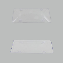 Wholesale 2x Clear ABS License Plate Tag Frame Covers Case Protector For US Car Truck AUTO